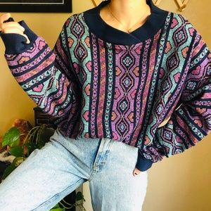 Vintage Sweaters - ⌈Vintage⌋ Neiman Marcus Abstract Sweater